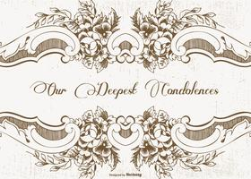 Vacker Vintage Style Condolences Card