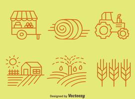 Sketch Farming Element Vector