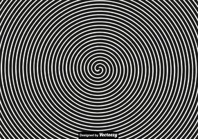 Concepto de vector para la hipnosis. Espiral negro