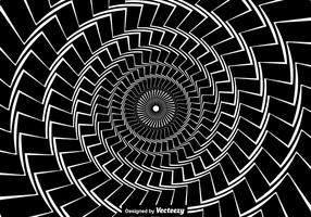 Vector Concept For Hypnosis. Black Twisted Spiral