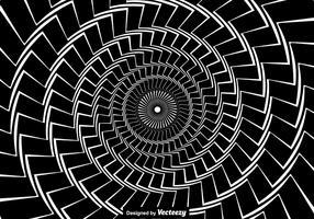 Concepto de vector para la hipnosis. Espiral negro retorcido