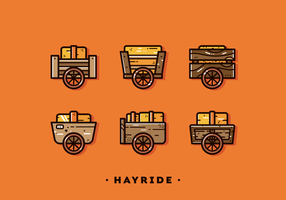 Free Simple Hayride Vector