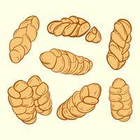Vecteur de pain challah