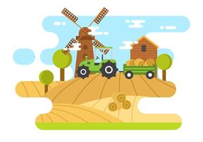 Free Hayride Vector Illustration