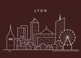 Silhouette Of Lyon City vector
