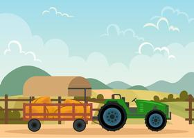 Hayride In A Farm vector