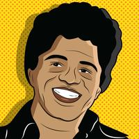 Retrato del vector de James Brown