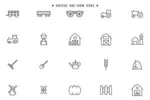 Vetores de Hayride e Farm