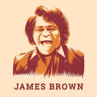James Brown Vintage Pooster Gratis Vector