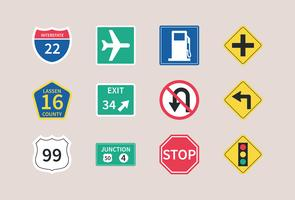 Highway Road Signs Vector