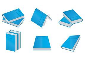 vectores de libro azul