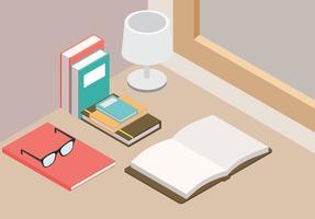 Libro Isometric Free Vector