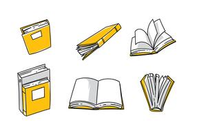 libro handdragen fri vektor