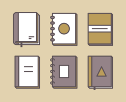 Bücher Icons Set