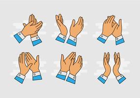 Dibujos animados manos aplaudiendo Vector