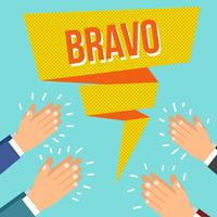 Flat Bravo Hands Clapping Vector
