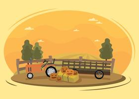 Free Hayride Illustration