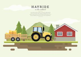 Hayride Farm House Gratis Vector
