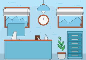 Illustration de bureau gratuit Design plat Vector
