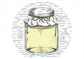 Free Hand Drawn Vector Jar