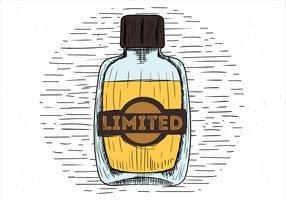Perfume de vectores dibujados a mano alzada