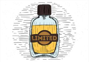 Free Hand Drawn Vector Perfume