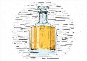 Hand Drawn Vector Whisky