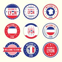 Vecteur de badges de Lyon