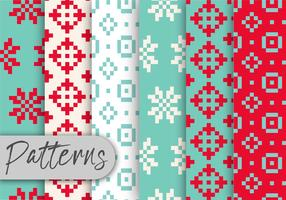 Winter Time Pixel Pattern Set