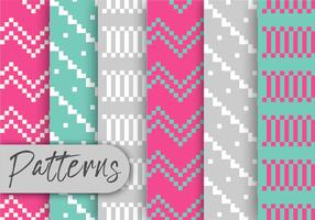Colorful Pixel Pattern Set