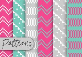 Kleurrijke Pixel Patroon Set