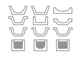 Gutter Icons Vector Collection