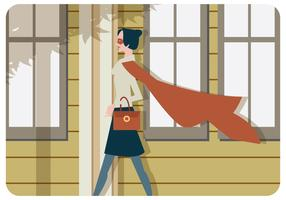 Superwoman Walking Vector