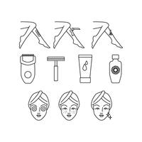 Skin Care Line Icon Vector