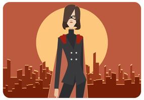 vector de mujer super empleado