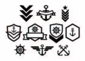 Free Army Badge Collection Vector