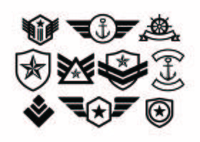 Gratis Militaire Badge Collectie Vector
