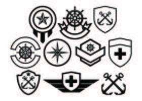 Gratis Army Badge Collection Vector
