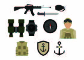 Gratis Army Colorful Icon Vector