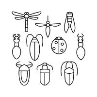Free Insect Line Icon Vector