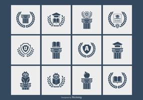 University-and-academy-silhouette-symbols-vectors