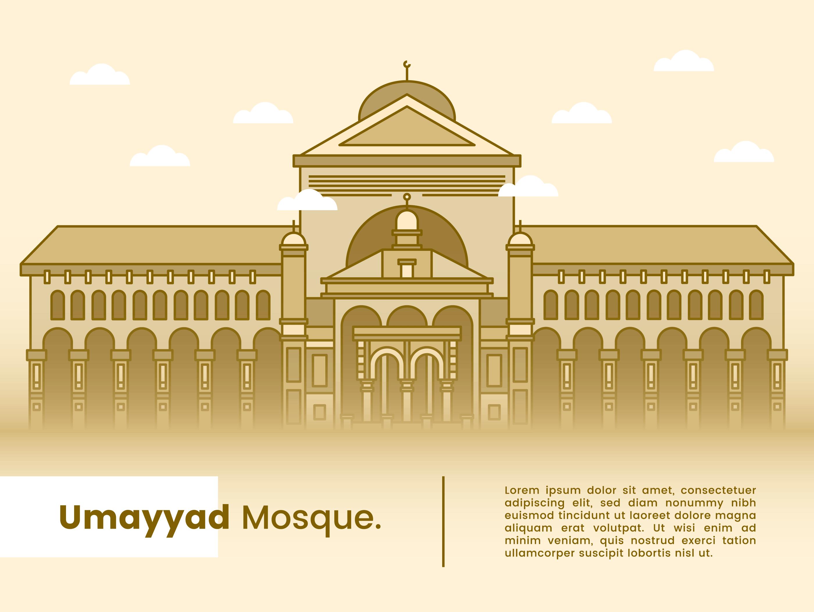 Umayyad Mosque Vector - Download Free Vectors, Clipart