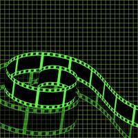 Vettore negativo del fondo del film