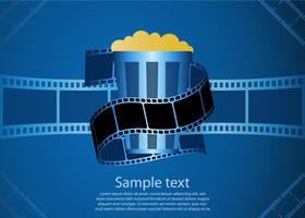 Photo film background vector