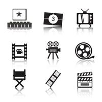 Photo film icon vectors