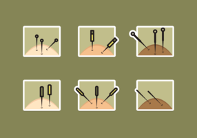 Acupuncture Free Vector Pack