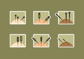 Pack de vecteur gratuit d'acupuncture