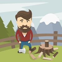 Woodcutter Lumberjack Gratis Vector