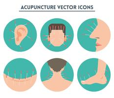 Iconos de vector de acupuntura