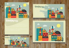Damascus City Card Vector